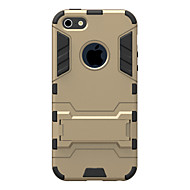 Недорогие Кейсы для iPhone 8 Plus-Кейс для Назначение Apple iPhone 8 / iPhone 8 Plus / iPhone 7 Защита от удара / со стендом Кейс на заднюю панель броня Твердый ПК для iPhone 8 Pluss / iPhone 8 / iPhone 7 Plus