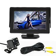 renepai® 4.3 monitor de + 170 ° hd retrovisor del coche de la cámara pulgadas + amplio ángulo de la cámara CMOS impermeable de alta