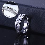 abordables Regalos Personalizados-acero inoxidable grabado anillo de la joyería unisex regalo personalizado