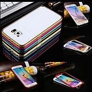 Недорогие Чехлы и кейсы для Galaxy S-Кейс для Назначение SSamsung Galaxy Кейс для  Samsung Galaxy Защита от удара Бампер Сплошной цвет Металл для S6