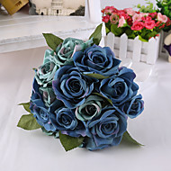 Sihirli mavi ev dekorasyonu için çiçek düğün buket gül