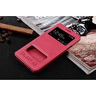 Недорогие Чехлы и кейсы для Galaxy А-Для Кейс для  Samsung Galaxy Чехлы панели с окошком Флип Чехол Кейс для Сплошной цвет Искусственная кожа для Samsung A3