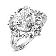 levne -Prstýnky Módní Svatební / Párty Šperky Slitina Dámské Prsteny s kamenem 1ks,Jedna velikost Stříbrná / Růžové zlato