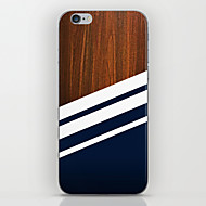 Недорогие Кейсы для iPhone 8 Plus-Кейс для Назначение Apple iPhone 8 iPhone 8 Plus iPhone 6 iPhone 6 Plus С узором Кейс на заднюю панель Имитация дерева Твердый ПК для