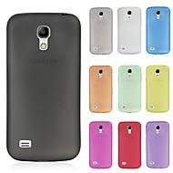 お買い得  Samsung 用 ケース/カバー-ケース 用途 Samsung Galaxy Samsung Galaxy ケース つや消し バックカバー 純色 PC のために S4 Mini