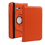 For Samsung Galaxy Case with Stand / Flip / 360° Rotation Case Full Body Case Solid Color PU Leather Samsung Tab 3 10.1