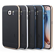 Недорогие Чехлы и кейсы для Galaxy S6 Edge Plus-Кейс для Назначение SSamsung Galaxy Кейс для  Samsung Galaxy Покрытие Кейс на заднюю панель Однотонный ТПУ для S7 edge / S7 / S6 edge plus