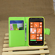 Για Θήκη Nokia Πορτοφόλι / Θήκη καρτών / με βάση στήριξης tok Πλήρης κάλυψη tok Μονόχρωμη Σκληρή Συνθετικό δέρμα Nokia Nokia Lumia 620