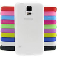Недорогие Чехлы и кейсы для Galaxy S-Для Кейс для  Samsung Galaxy Защита от удара Кейс для Задняя крышка Кейс для Один цвет Силикон Samsung S5 Mini
