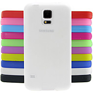 For Samsung Galaxy etui Stødsikker Etui Bagcover Etui Helfarve Silikone for Samsung S5 Mini