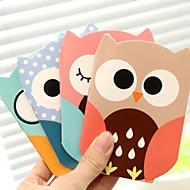 cheap Stationery-Cartoon Owl Pattern Creative Note(Random Color)