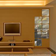 6db négyszögletes alakú DIY tükör falimatrica művészeti matricák (16 * 16cm)