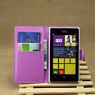 Χαμηλού Κόστους ΘΗΚΕΣ ΤΗΛΕΦΩΝΟΥ-Για Θήκη Nokia Πορτοφόλι / Θήκη καρτών / με βάση στήριξης tok Πλήρης κάλυψη tok Μονόχρωμη Σκληρή Συνθετικό δέρμα Nokia Nokia Lumia 925