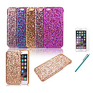 Недорогие Кейсы для iPhone 8 Plus-Кейс для Назначение iPhone X iPhone 8 iPhone 8 Plus iPhone 6 iPhone 6 Plus Защита от удара Задняя крышка Сияние и блеск Твердый PC для