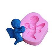 abordables Accesorios para Hogar y Mascotas-moldes para hornear molde fondant ángel decoración de la torta del molde