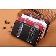 Voor Samsung Galaxy hoesje met standaard / met venster / Flip / Reliëfopdruk hoesje Volledige behuizing hoesje Effen kleur PU-leer voor