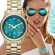 Dames Modieus horloge Kwarts Kalender Legering Band Luxe Goud