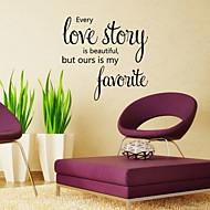 벽 스티커 벽 데칼 스타일의 사랑 이야기 영어 단어&PVC 벽에 스티커를 인용