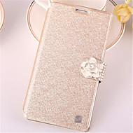 For Samsung Galaxy Note7 Kortholder / Rhinsten / Med stativ / Flip Etui Heldækkende Etui Glitterskin Kunstlæder SamsungNote 7 / Note 5 /