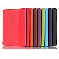 Для Кейс для  Samsung Galaxy со стендом / Флип / Оригами Кейс для Чехол Кейс для Один цвет Искусственная кожа Samsung Tab A 9.7