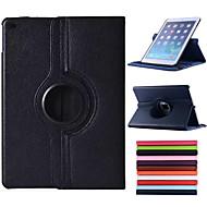 billige -Etui Til iPad Air med stativ Autodvale / aktivasjon Origami 360° rotasjon Heldekkende etui Helfarge PU Leather til iPad Air