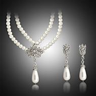 Damskie Zestawy biżuterii biżuteria kostiumowa Perłowy Naszyjniki Náušnice Na Ślub Impreza Urodziny Zaręczynowy Codzienny Casual Prezenty