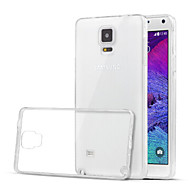 お買い得  携帯電話ケース-ケース 用途 Samsung Galaxy Samsung Galaxy Note クリア バックカバー 純色 TPU のために Note 4