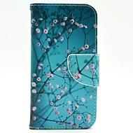 Для Кейс для  Samsung Galaxy Кошелек / Бумажник для карт / со стендом / Флип Кейс для Чехол Кейс для дерево Искусственная кожа Samsung