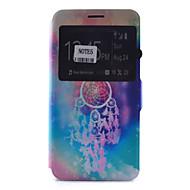 Недорогие Чехлы и кейсы для Galaxy Note-Кейс для Назначение SSamsung Galaxy Samsung Galaxy Note Бумажник для карт со стендом с окошком Флип С узором Чехол Ловец снов Мягкий Кожа