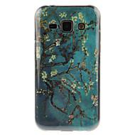 Для Кейс для  Samsung Galaxy IMD Кейс для Задняя крышка Кейс для дерево TPU Samsung J7 / J5 / J1