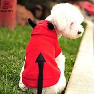 お買い得  -ネコ 犬 コスチューム パーカー 犬用ウェア バンパイヤ レッド フリース コスチューム ペット用 男性用 女性用 キュート コスプレ ハロウィーン