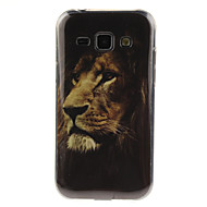 Недорогие Чехлы и кейсы для Galaxy J1-Для Кейс для  Samsung Galaxy IMD Кейс для Задняя крышка Кейс для Животный принт TPU Samsung J7 / J5 / J1