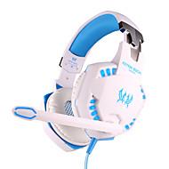 cada auricular g2100 cable de 3,5 mm sobre la oreja de juego de control de volumen de vibración con micrófono para PC