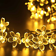 GMY Christmas Light Flower Shape 50LED Solar Light Warm White/Cool White/Mix Color