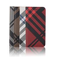 Недорогие Кейсы для iPhone 8-Кейс для Назначение Apple iPhone 8 iPhone 8 Plus iPhone 6 iPhone 6 Plus Бумажник для карт Кошелек со стендом Флип С узором Чехол Полосы /