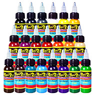 solong 문신 잉크 21 색 1 온스 30ml / 병 문신 안료 키트 세트