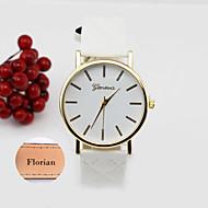 voordelige Gepersonaliseerde horloges-Gepersonaliseerd cadeau Horloge, Analoog Kwarts Horloge With Metaal Materiaal Leer Band Waterdichtheid Diepte
