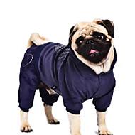 お買い得  -犬 コート / パーカー / ジャンプスーツ 犬用ウェア ハート パープル / ブルー / ピンク コットン コスチューム ペット用 男性用 / 女性用 カジュアル/普段着 / 保温