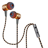 plextone® x41m in-ear metal tung bas hovedtelefon med mikrofon og compatibe for iphone6 ​​/ iphone6 ​​plus mobiltelefon / pad / mp3 / pc