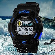 Недорогие Фирменные часы-SKMEI Муж. Наручные часы Кварцевый 30 m Защита от влаги Спортивные часы LED PU Группа Цифровой Кулоны Черный - Красный Зеленый Синий