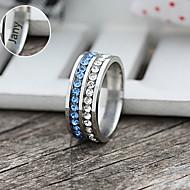 abordables Estampados y Regalos Personalizados-Joyería personalizada Acero Inoxidable - plata / azul - Argollas -