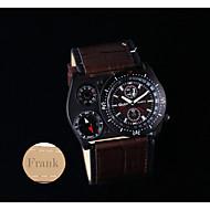 halpa Personalisoidut kellot-Henkilökohtainen lahja Watch , Lämpömittari Quartz Watch With 304 Ruostumaton teräs Kotelon materiaali Aito nahka Bändi Monitoimikello