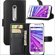 voordelige Screenprotectors voor Motorola-theembossed cardprotectivesleeve moto g 2015 mobilofoon shell voor Motorola Moto g3 mobiele telefoon