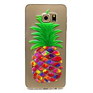 Voor Samsung Galaxy hoesje Hoesje cover Transparant Achterkantje hoesje Fruit TPU voor Samsung Galaxy S6 edge plus S6 edge S6 S5 Mini S5