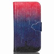 billige Galaxy S4 Etuier-Etui Til Samsung Galaxy Samsung Galaxy etui Kortholder Pung Med stativ Flip Fuldt etui Landskab PU Læder for S6 S5 Mini S5 S4 Mini S4 S3
