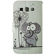 Для Кейс для  Samsung Galaxy Бумажник для карт / Кошелек / со стендом / Флип Кейс для Чехол Кейс для Слон Искусственная кожа SamsungGrand