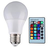 お買い得  LED ボール型電球-YWXLIGHT® 500 lm E26/E27 LEDボール型電球 A60(A19) 1 LEDの ハイパワーLED 調光可能 装飾用 リモコン操作 RGB AC85-265V