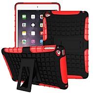 Недорогие Гаджеты для iPad-Кейс для Назначение iPad Air Защита от удара со стендом Кейс на заднюю панель броня ПК для iPad Air