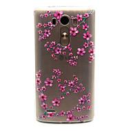 olcso Mobiltelefon tokok-Kompatibilitás LG tok tokok Átlátszó Hátlap Case Virág Puha Hőre lágyuló poliuretán mert LG LG G3 LG Spirit / LG C70 H422