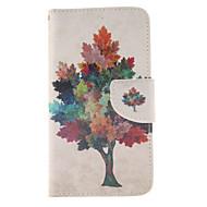 Для Кейс для  Samsung Galaxy Бумажник для карт / Кошелек / со стендом / Флип Кейс для Чехол Кейс для дерево Искусственная кожа Samsung